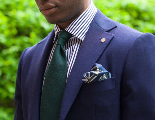 Navy Blazer With Striped Shirt And Tie Pictures Photos