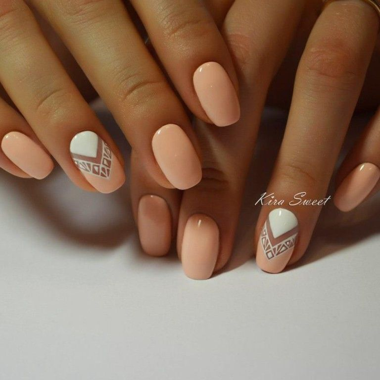 peach nail polish pictures photos and images for facebook tumblr pinterest and twitter. Black Bedroom Furniture Sets. Home Design Ideas