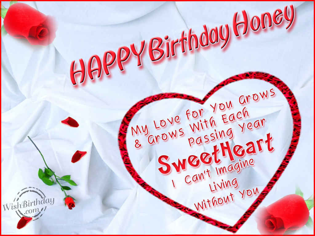 Happy birthday honey pictures photos and images for facebook tumblr pinterest and twitter - Happy birthday my love cards ...
