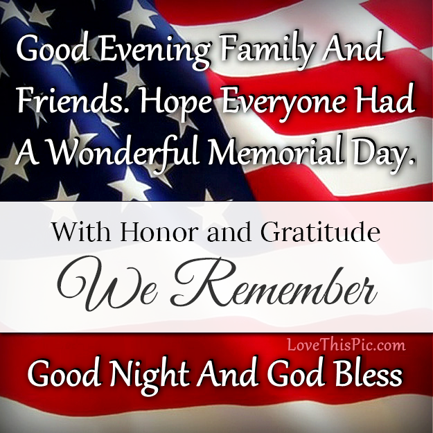 Memorial Day Pinterest Quotes: Good Evening Happy Memorial Day Pictures, Photos, And