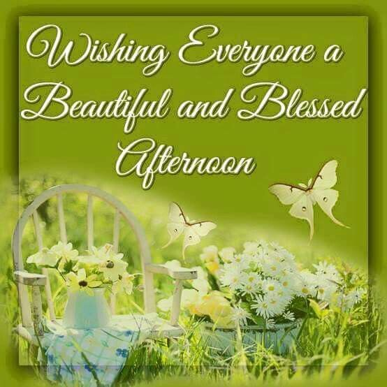 Good Afternoon Picture Quotes: Wishing Everyone A Beautiful And Blessed Afternoon