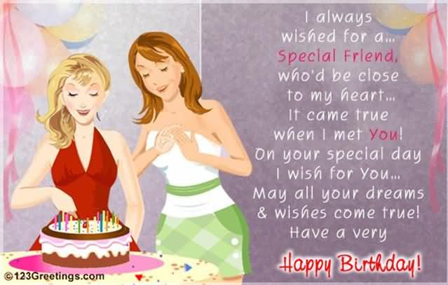 happy birthday special friend