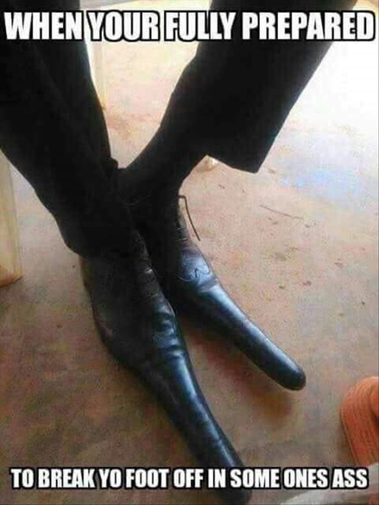 foot in ass