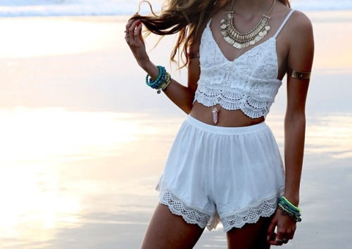 White Lace And Lace Shorts Pictures Photos And Images
