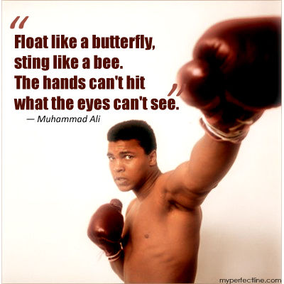 Float Like A Butterfly Sting Like A Bee The Hands Can T