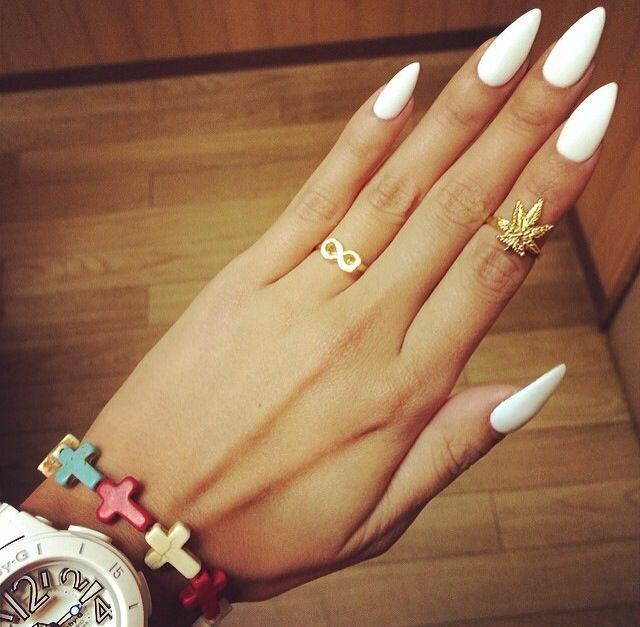 White Stiletto Nails Pictures, Photos, And Images For