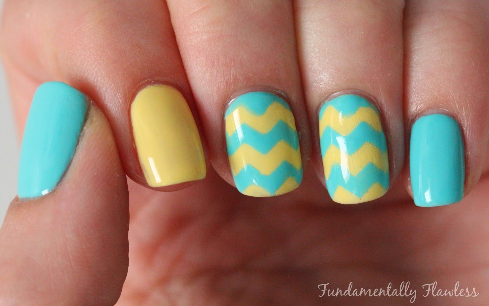 Yellow and turquoise chevron nails pictures photos and images for yellow and turquoise chevron nails solutioingenieria Gallery