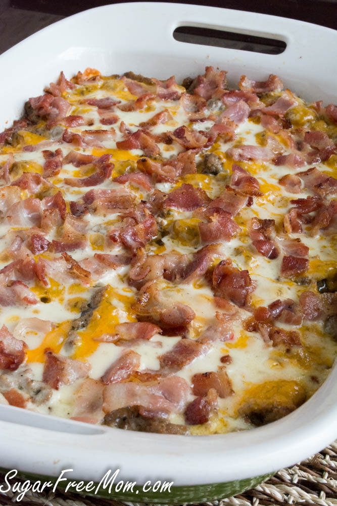Bacon Cheeseburger Cauliflower Casserole Pictures Photos