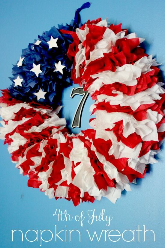 4th Of July Napkin Wreath Pictures Photos And Images For Facebook Tumblr Pinterest And Twitter