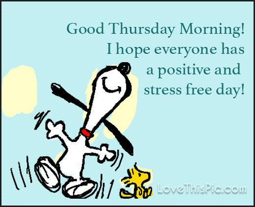Snoopy Good Morning Thursday Image Quote Pictures, Photos ...