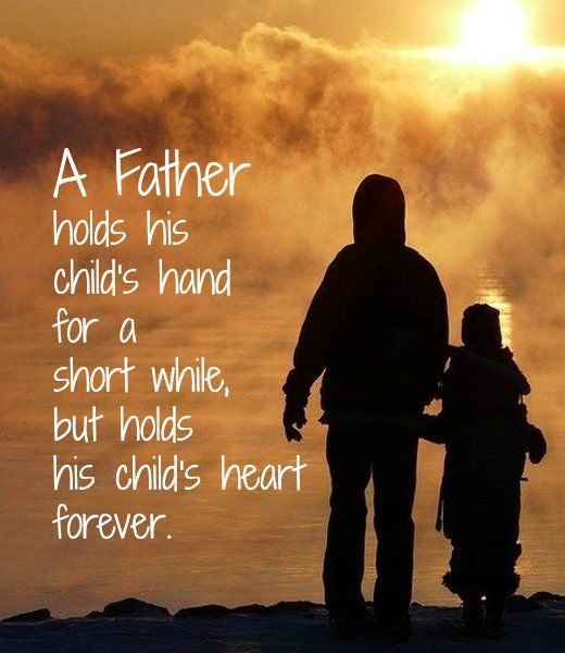 Military Father Daughter Quotes: A Father Holds His Childs Hand For A Short While Pictures