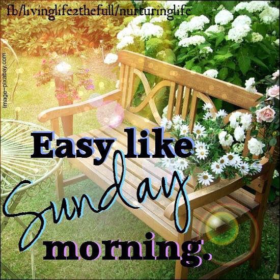 Easy like sunday