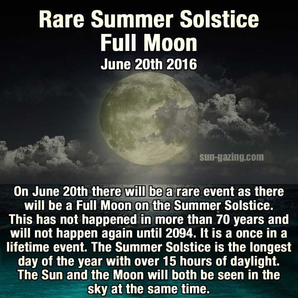 Rare Summer Solstice Full Moon June 20 2016 Pictures, Photos, and Images for ...