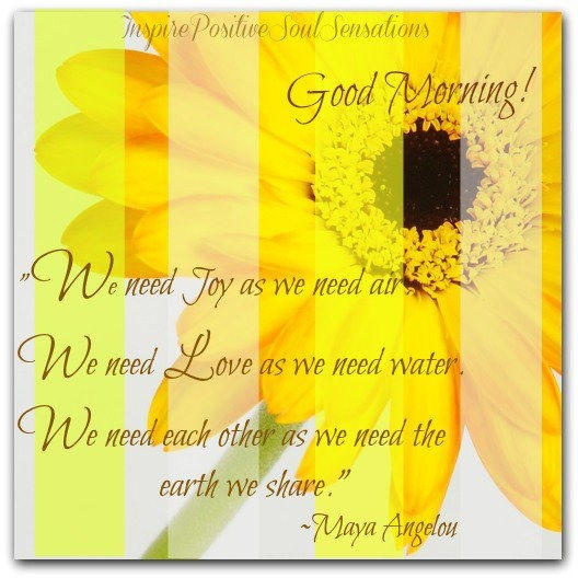 Good Morning Maya Angelou QUote Pictures, Photos, and Images ...