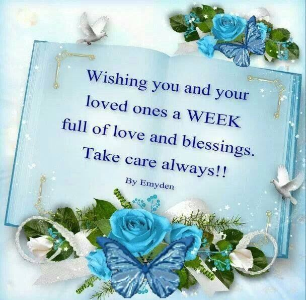 wishing you and your family a great week