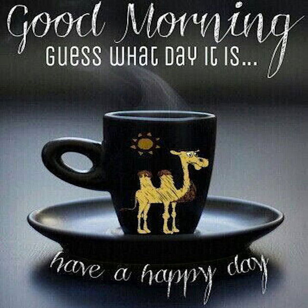 Good Morning Guess What Day It Is Have A Happy Day