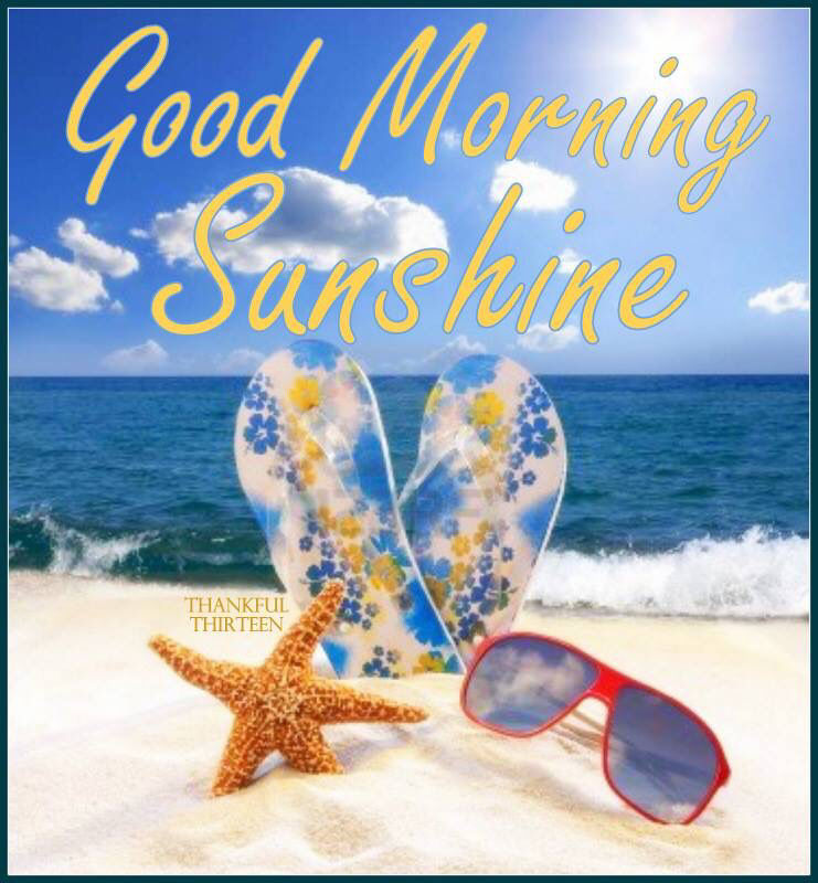 Good Morning Quotes Beach : Good morning sunshine summer quote pictures photos and
