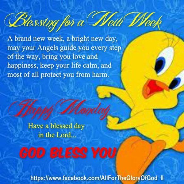 Daveswordsofwisdom.com: A Blessing for a Brand New Week.  Weekly Blessings