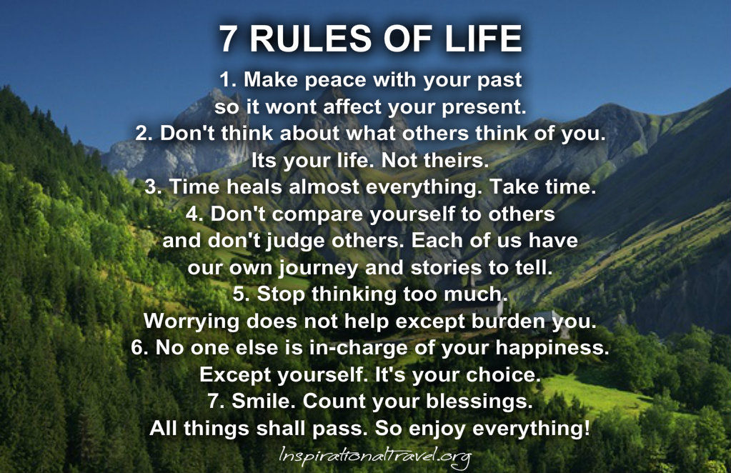 7 Rules Of Life Pictures, Photos, And Images For Facebook