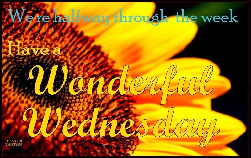 half way through the week have a wonderful wednesday