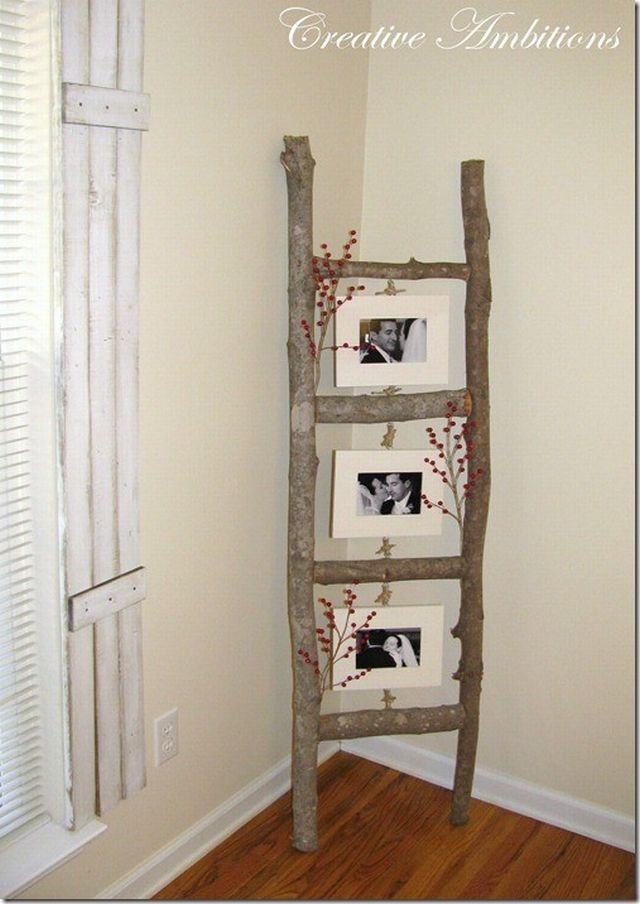 home decorating ideas with picture frames - DIY Tree Branch Picture Frames s and