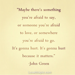 Its gonna hurt because it matters