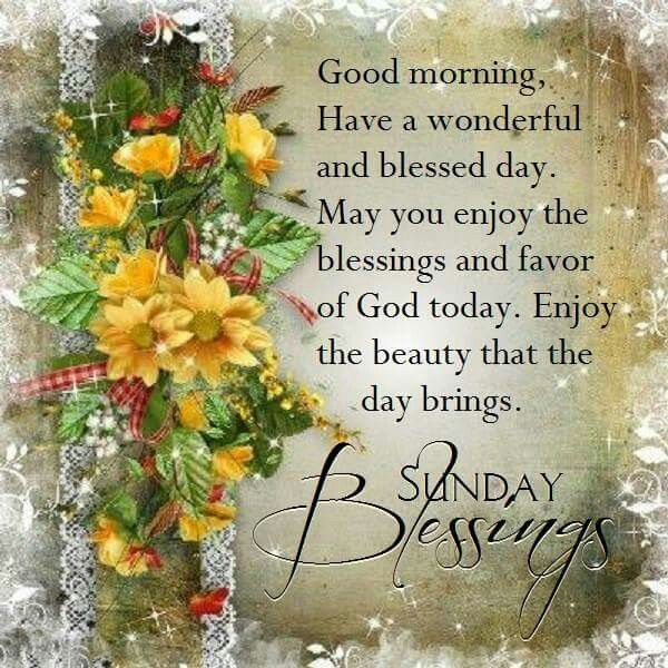 Good Morning Sunday Blessings Pictures Photos And