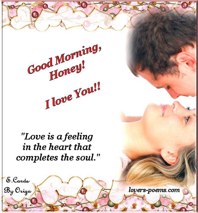 Außergewöhnlich Good Morning Honey! I Love You! Pictures, Photos, and Images for @VB_64