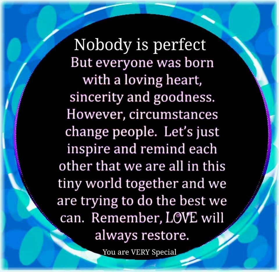 Nobody Ist Perfekt