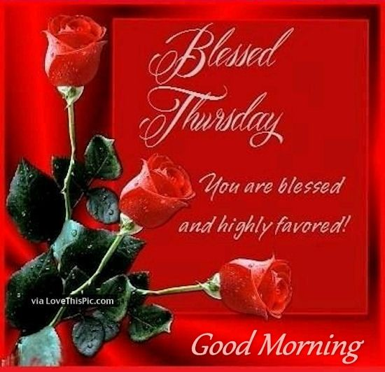 Good Morning Thursday You Are Blessed And Favored Pictures