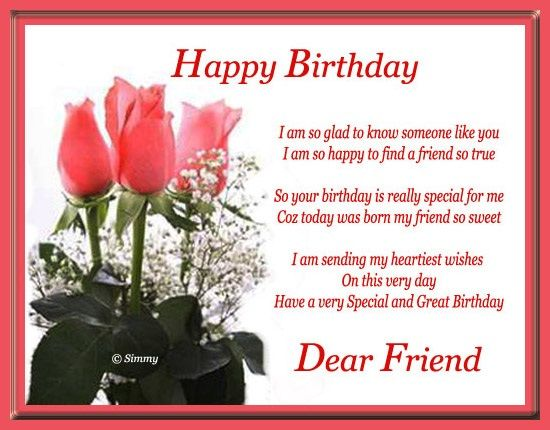 50 Quotes For A Special Friend For His Birthday: Happy Birthday Dear Friend Pictures, Photos, And Images