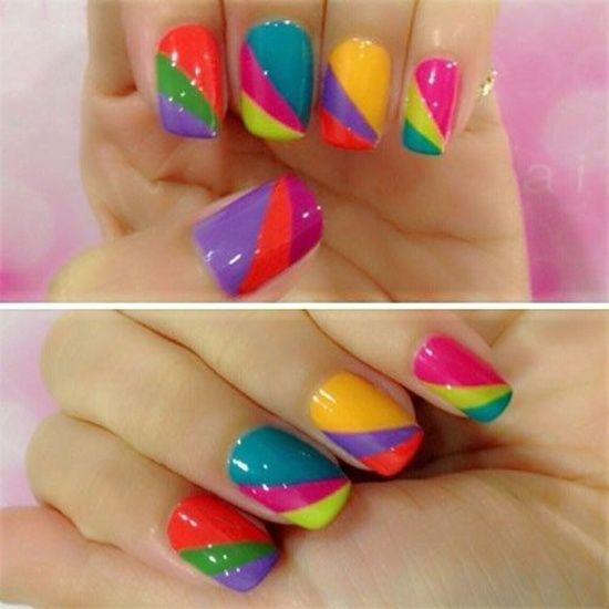 Фото дизайн ногтей цветной