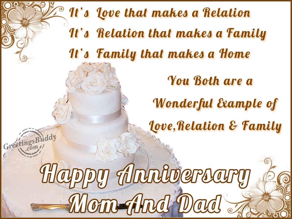 Happy wedding anniversary message mom dad