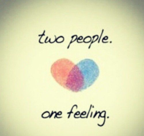 Quotes On Loving Two People: Two People, One Feeling Pictures, Photos, And Images For
