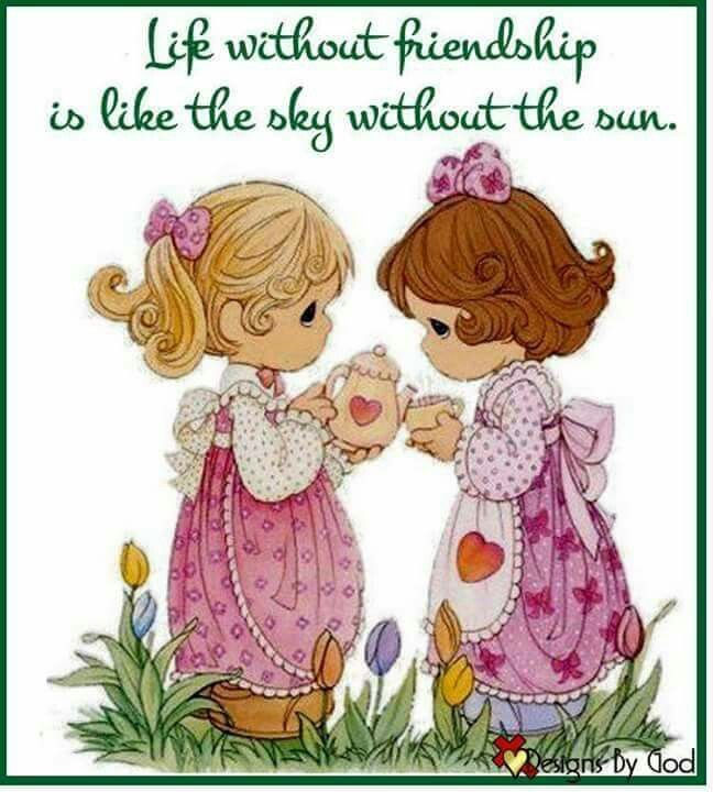 Life Without Friendship Is Like The Sky Without The Sun