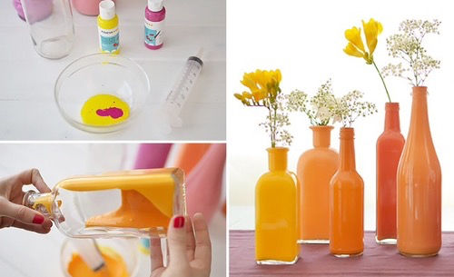 Diy Painted Bottle Vase Pictures Photos And Images For Facebook