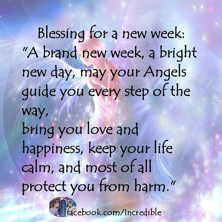 Monday Blessings Have A Great Week Religious Quote ...  Weekly Blessings