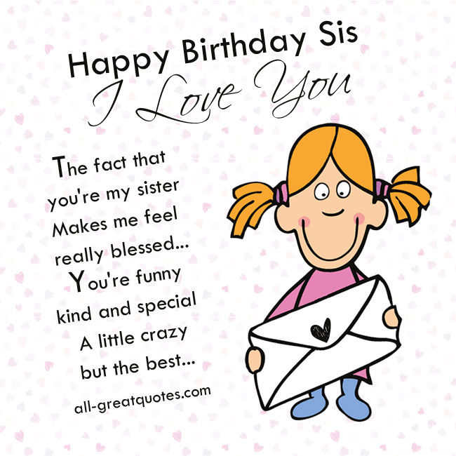 happy birthday sis  i love you pictures  photos  and free st patrick's day clip art images free st patrick s day clipart
