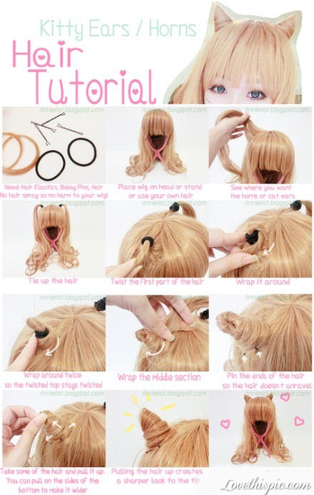 DIY Kitty Ears Hair Tutorial Pictures, Photos, and Images for Facebook ...