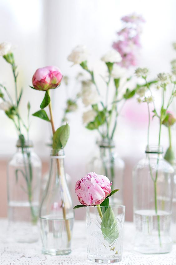 Flowers In Glass Bottles Pictures Photos And Images For