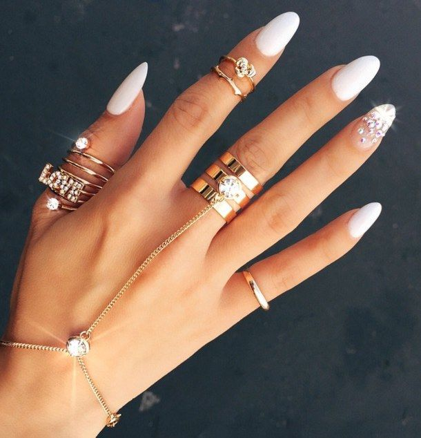 White Round Stiletto Nails Pictures Photos And Images