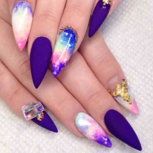 Stiletto Galaxy Nails Pictures Photos And Images For Facebook