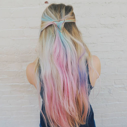 Long Flowing Pastel Rainbow Hair Pictures, Photos, and ...