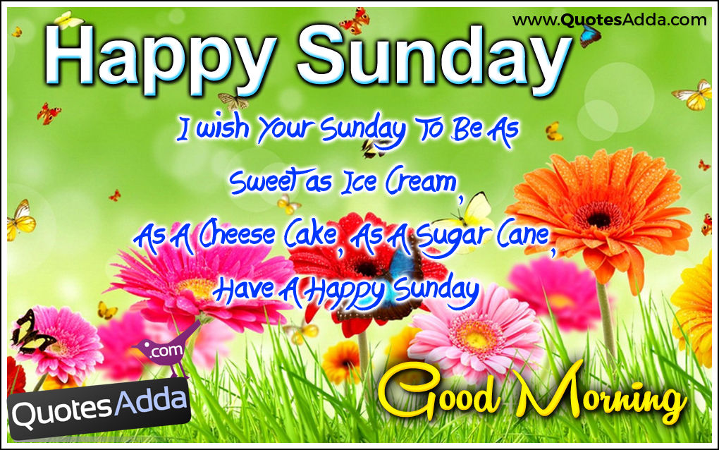 Good Morning And Happy Sunday Quotes : Happy sunday good morning pictures photos and images