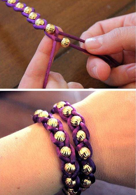 Как сделать браслеты своими руками из ленточек