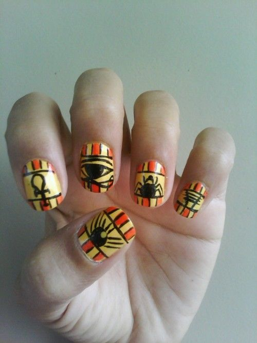 Egyptian Nail Art - Egyptian Nail Art Pictures, Photos, And Images For Facebook, Tumblr