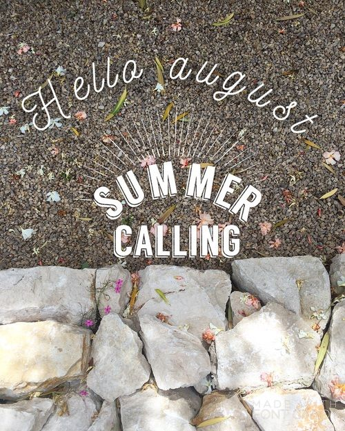 Amazing Hello August, Summer Calling