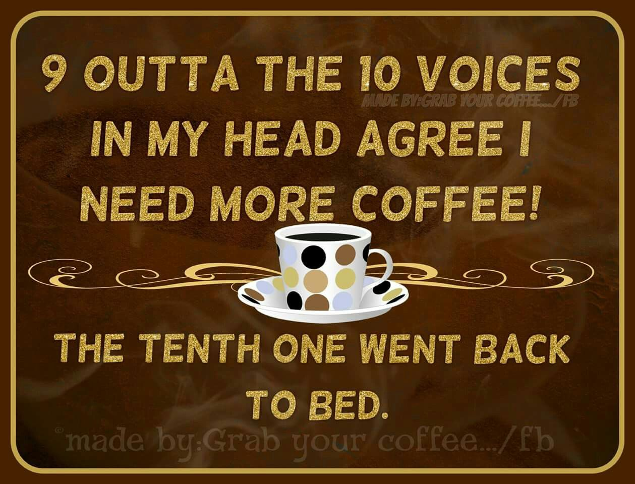 I Need More Coffee