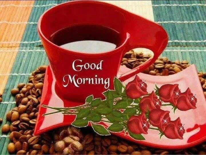 Good Morning Coffee Photos: Good Morning Coffee And Roses Quote Pictures, Photos, And