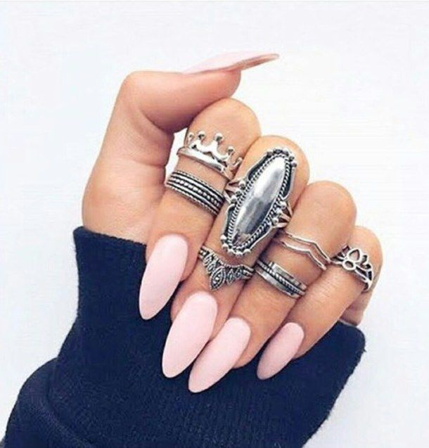 pink nails with silver rings pictures photos and images for facebook